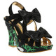 Irregular Choice Squiggly Diggly,  Black Bow Platform heel