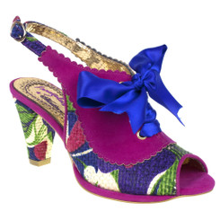 Irregular Choice Below the Belt- Black, Mix Pattern Slingback heel