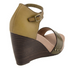 Nicole Savannah Sandal, Two tone wedge sandal, peppercorn color