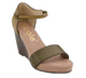 Nicole Savannah Sandal, Two tone wedge sandal, peppercorn color