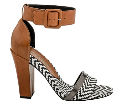 03df3b459c3 Nicole Barri Sandal- Women s High Heel Ankle Strap Sandal- Black White and  Tan leather