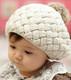Berky Boo Finn Hat- Knitted Pom Pom Hat- Cream