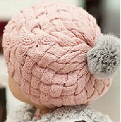Berky Boo Finnley Hat- Knitted Pom Pom Hat- Pink