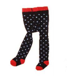 Berky Boo Bella Tights- Black Red polka dot