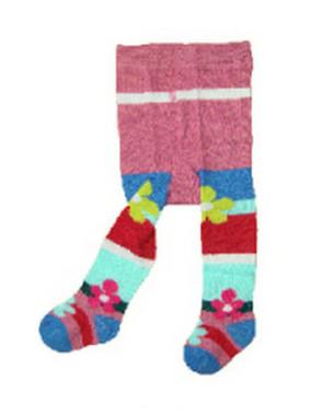 Berky Boo Bella Tights- Purple tights with multi stripe bottom