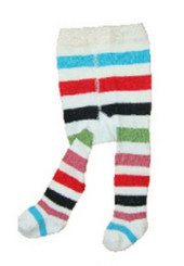 Berky Boo Bella Tights- White Multi Stripes