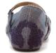 Back View: Shoes for Women, OTBT Kalamazoo- Women's Flat Mary Jane Clog- Slate Blue Denim