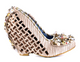 Irregular Choice Spice Swirl- Women's Covered Wedge with Embellishment- Cream