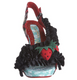 Irregular Choice Raspberry Ripples, Wooden Heel Slingback Sandal with Strawberry Charm- Black and Red