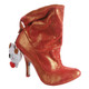 Women's Shoes, Irregular Choice Little Fish, Slouchy Ankle Boot, Metallic Orange, Sleepy Bear Charm