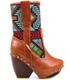 Women's Boots, Irregular Choice Mandarin, Embroidered Cowboy boot- Black