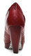 Women's Shoes, Irregular Choice Zubes, Leather platform bootie with pleated leather, Red