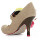 Women's Shoes, Irregular Choice Splish Splash, Beige High Heeled Mary Jane, Oversized Floral Bouquet