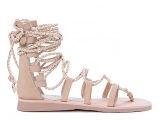 Women's Shoes, Jeffrey Campbell Hola, Lace Up Gladiator Sandal, Beige