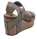 Women's Shoes, OTBT Bushnell, Open toe Wedge with elastic strap, Pewter Colorway