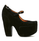 Women's Shoes, Jeffrey Campbell Stunner, Black Suede Mary Jane, Platform high heel