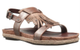 Quarter View: Shoes for Women, Women's Shoes, OTBT Tourist, Flat Tassel Fringe Sandal, Cork footbed, New Bronze