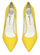"Women's Shoes, Jeffrey Campbell Dulce, Yellow neoprene stiletto pump, 4.25"" heel"