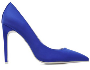 "Women's Shoes, Jeffrey Campbell Dulce, Blue neoprene stiletto pump, 4.25"" heel"