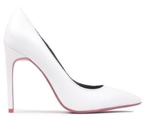 """Women's Shoes, Women's Heels, Jeffrey Campbell Dulce, Blue neoprene stiletto pump, 4.25"""" heel"""