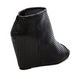 Women's Shoes, Jeffrey Campbell Jovita, Perforated peep toe bootie, Black Leather