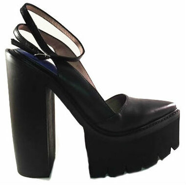 Women's Shoes, Jeffrey Campbell Celebrity, Lug Sole high heels, Leather Pointy toe