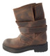 Women's Shoes, Jeffrey Campbell Burton, Motorcycle boot, Brown leather with multi wrap around straps, lug sole
