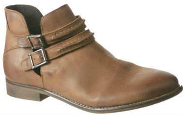 Women's Shoes, Women's Boots, Ankle boots, leather ankle boot, Nicole Raina Boot, Tobacco Tan Brown