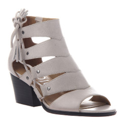 Women Shoes Online, Women's Shoes, Women's Sandals, Nicole Tatiana Sandal, Western Sandal with cutouts and fringe tassel, Beige-Gray Suede Upper.