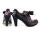 Irregular Choice Snappy Clappy, Oxford Heel with Bow, irregular choice oxford heel black
