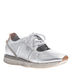 "Quarter View. Women Shoes, Women's Sneakers, OTBT Star Dust, cut out Sneaker, 1"" heel, Color Silver, Light Weight EVA outsole"