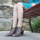 "Lifestyle View: Women Shoes, Women's Sandals, Madeline Winning, Women's Mid Heel Sandal, 2.5"" heel, Cut Out Upper, color Dark Dune."