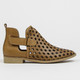 """Side View: Women's Shoes, Women's Bootie, Perforated leather, 1/2"""" heel, Musse & Cloud, Color: Cue"""