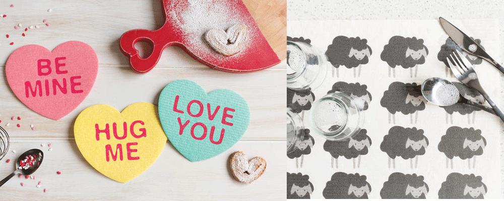 Now Designs Valentine Heart Dishcloths