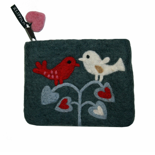 Felt Coin Purse - Love Birds (590441)