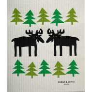 Swedish Dishcloth - Moose in the Forest (600364)