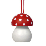 Toadstool Ornament - Wooden Mushroom (44383)