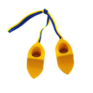 Clogs With Swedish Ribbon Ornament - Wooden Shoes (44338Y)