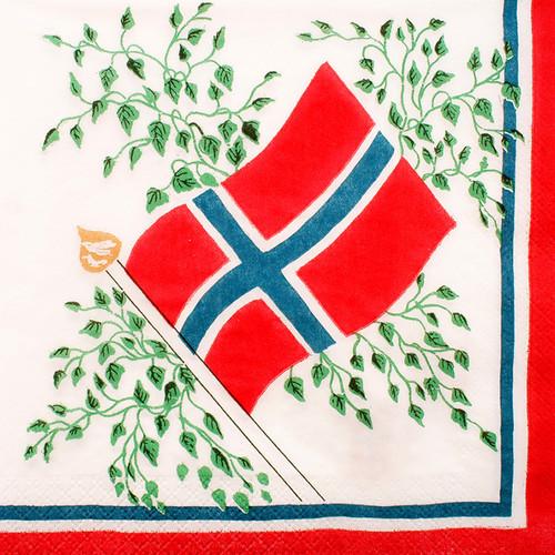 Norway Flag Luncheon Napkins (501997)