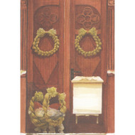 Tomtes in Doorway Christmas Card (B1)