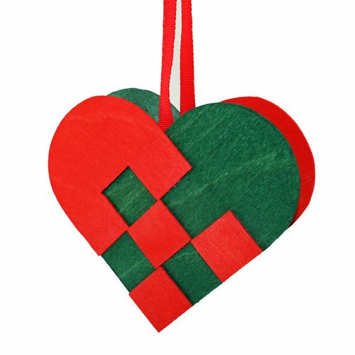 Heart Basket Wooden Decoration (3282)