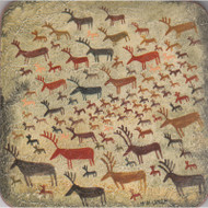 Reindeer Rock Art Trivet (6668)