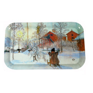 Carl Larsson The Yard and Washhouse Tray (6703)