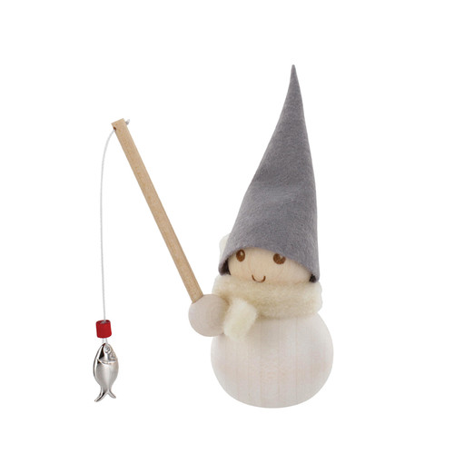 Tonttu Christmas Frost Elf - Pilkki Pakkanen - Fisherman (B5492)