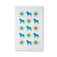 Tea Towel/Kitchen Towel - Dala Horse - Blue & Yellow (86051)