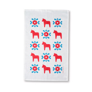 Tea Towel/Kitchen Towel - Dala Horse - Red & Blue (86053)