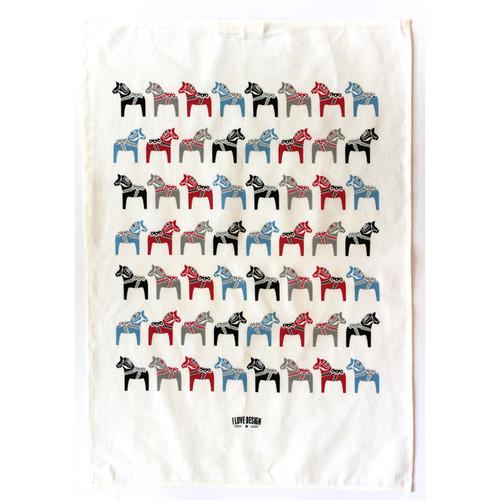 Tea Towel/Kitchen Towel - Dala Horse (86501)