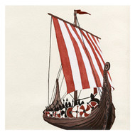 Viking Ship Paper Luncheon Napkins - 20 per Package (103003)