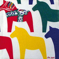Dala Horse Cocktail Napkins (109200)