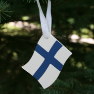 Finland Flag Ornament - Wooden (44593F)